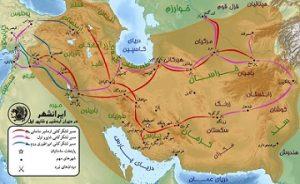 نقشه ایران در زمان ساسانیان