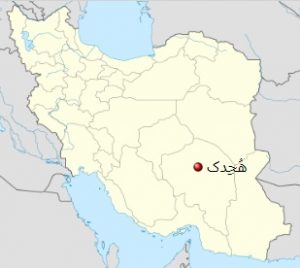 هجدک کرمان روی نقشه