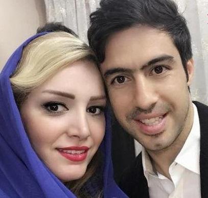 امید ابراهیمی و همسرش