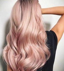 رنگ مو مرواریدی با تناژ صورتی