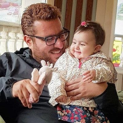 عکس محسن کیایی و دخترش رز