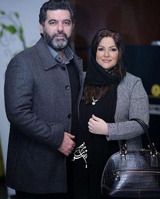 مصطفی کیایی و همسرش عاطفه فلاحی