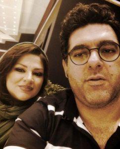 عکس مصطفی کیایی و همسرش عاطفه فلاحی و پسرش سال ۹۰