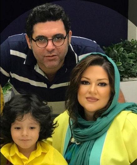 عکس مصطفی کیایی و همسرش و پسرشان