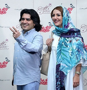 عکس و بیوگرافی سامان احتشامی و همسرش