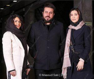 محسن کیایی و همسرش در کنار نیکی مظفری