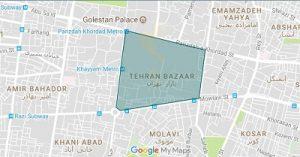 مسیر بازار بزرگ تهران