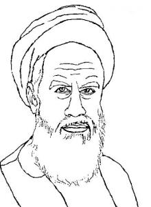 نقاشی تصویر خمینی