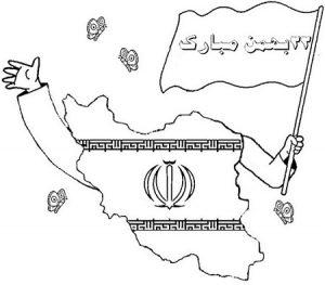نقاشی نقشه ایران