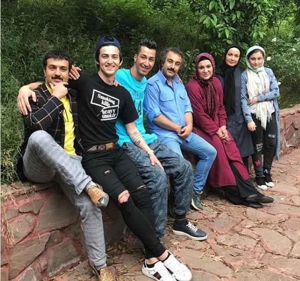 بازیگران سریال پایتخت در کنار سردار آزمون