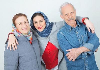 عکس سحر دولتشاهی و پدر و مادرش