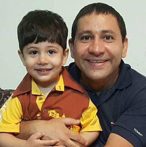 عکس سروش جمشیدی و پسرش سیاوش