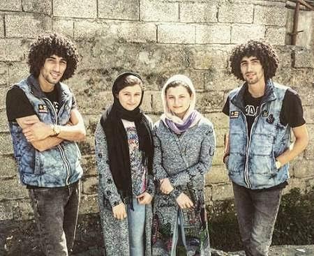 عکس مصطفی و مجتبی بلال حبشی و سارا و نیکا فرقانی