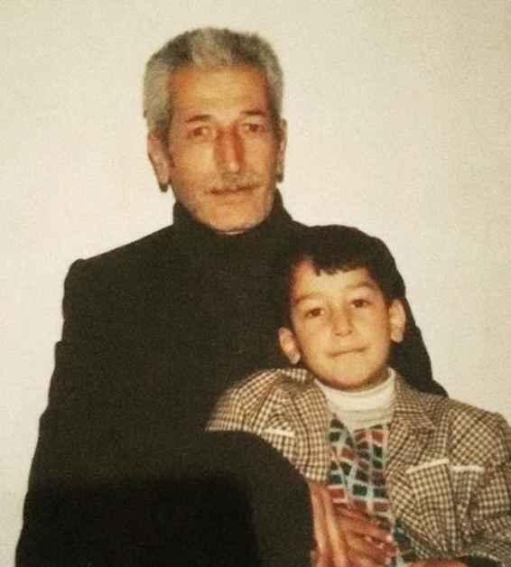 عکس کودکی بهرام افشاری و پدرش