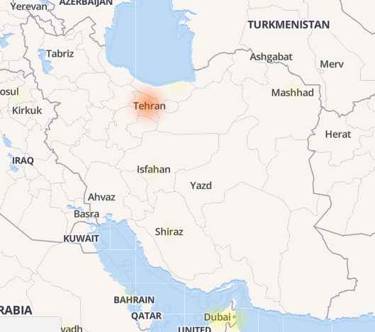 قطعی تلگرام فقط در تهران است