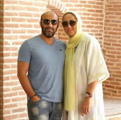محسن تنابنده و همسرش روشنک گلپا