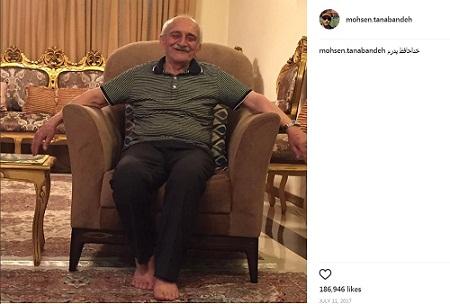پست اینستاگرام محسن تنابنده برای فوت پدرش
