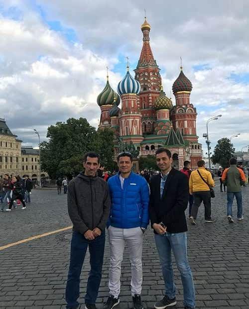 عکس های علیرضا فغانی در روسیه