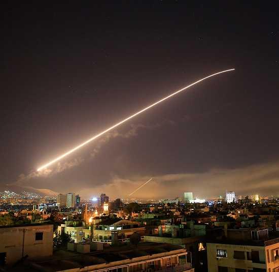 تصاویر حمله آمریکا به سوریه