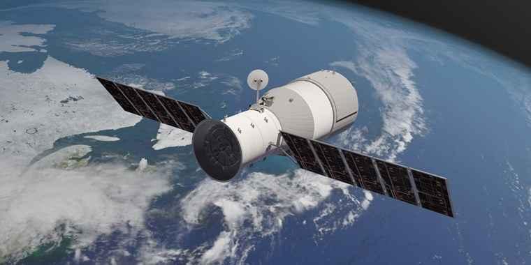 تصویر فضاپیمای چینی تیانگونگ