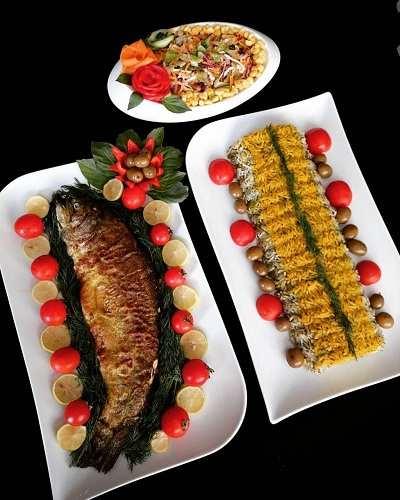 طرز تهیه سبزی پلو با ماهی و تزیین آن