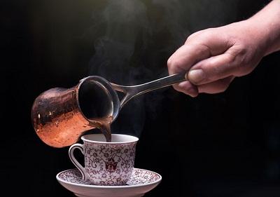 طرز تهیه قهوه ترک روی گاز