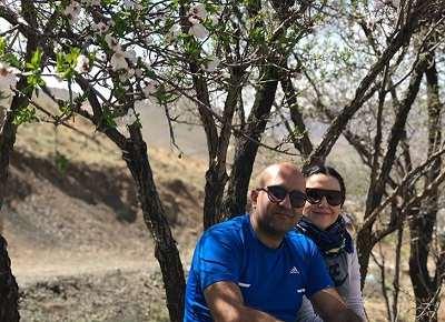 عکس برادر پانته آ بهرام و همسرش