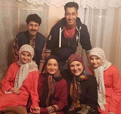 عکس نسرین نصرتی در کنار بازیگران پایتخت ۵