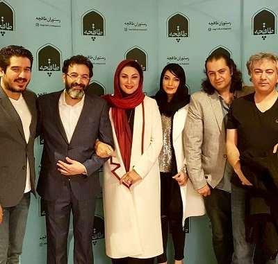 عکس های مراسم افتتاح رستوران طاقچه لاله اسکندری و همسرش