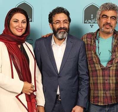 عکس های مراسم افتتاح رستوران لاله اسکندری و همسرش