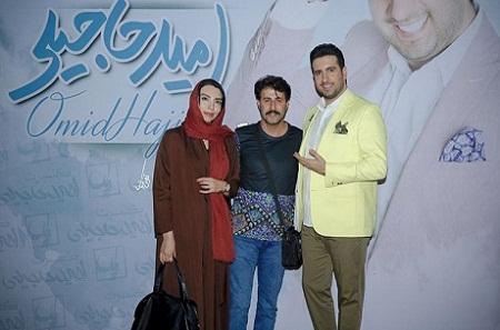 عکس هومن حاجی عبداللهی و همسرش در کنار امید حاجیلی