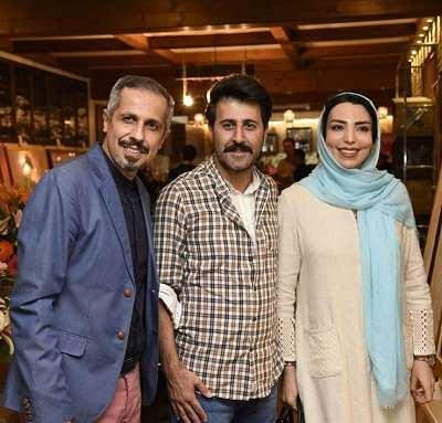 عکس هومن حاجی عبداللهی و همسرش در کنار جواد رضویان