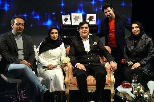 عکس هومن حاجی عبداللهی و همسرش در کنار صباراد و همسرش