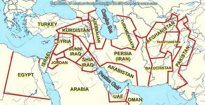 خاورمیانه کجاست؟