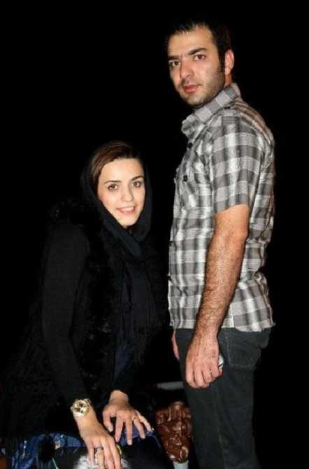 عکس امید آهنگر و همسرش