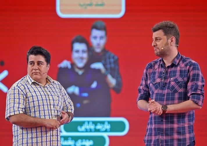 باربد بابایی و مهدی یغمایی در مسابقه ادابازی