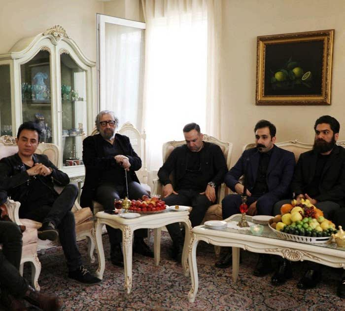 داریوش فرضیایی مسعود کیمیایی در منزل ناصر ملک مطیعی