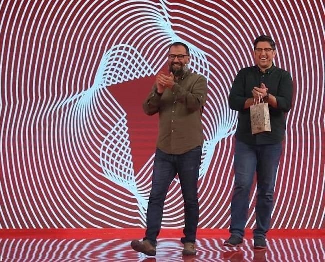 سیاوش مفیدی و شهاب عباسی در مسابقه ادابازی
