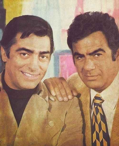 عکس قدیمی ناصر ملک مطیعی و محمد علی فردین