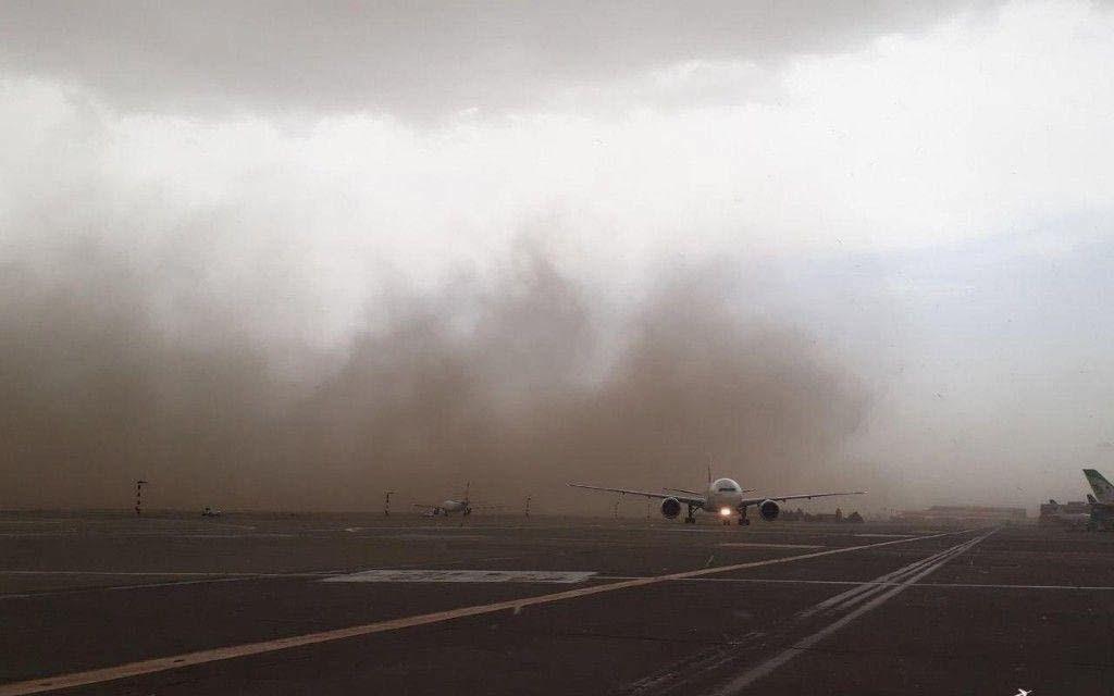 عکس های طوفان امروز در تهران- فرودگاه امام خمینى تهران