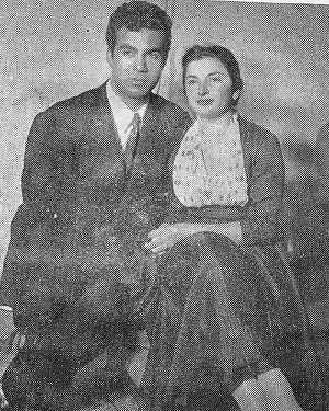 عکس همسر ناصر ملک مطیعی و او در سال های دور