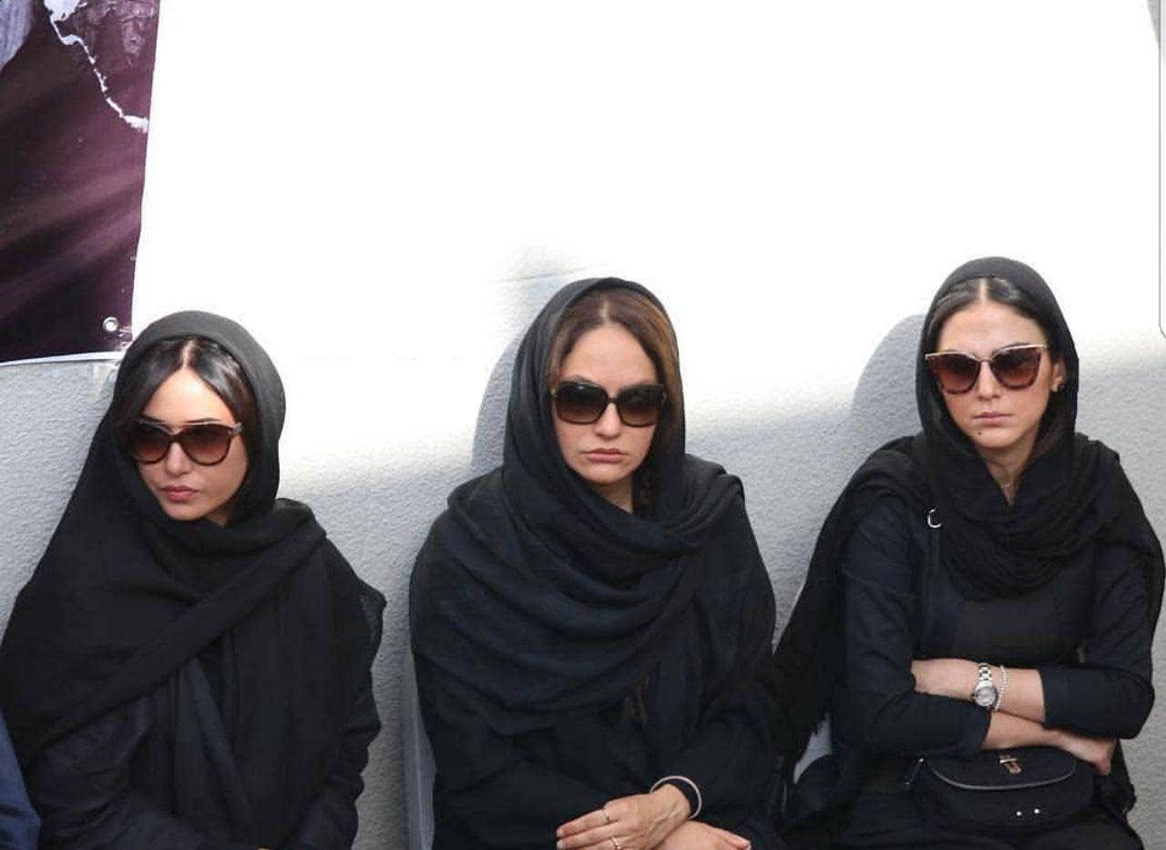 مهناز افشار پریناز ایزدیار هدی زین العابدین در مراسم تشییع ناصر ملک مطیعی