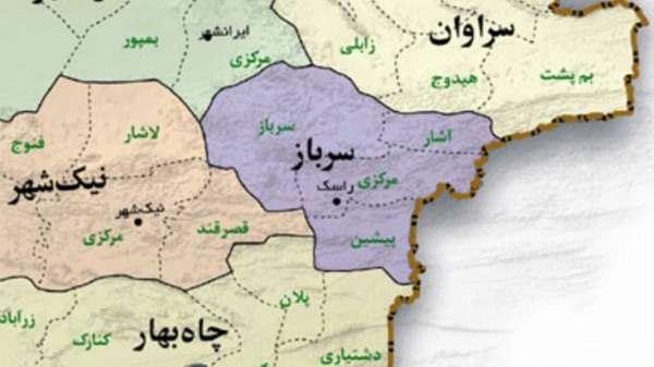 نقشه منطقه سرباز
