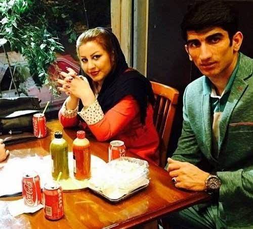 عکس علیرضا بیرانوند و همسرش