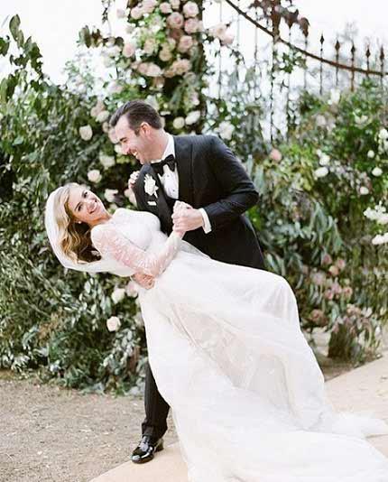 عکس مراسم ازدواج کیت آپتون و همسرش