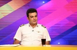 خلبان امین امیرصادقی کاپیتان و خلبان حالا خورشید
