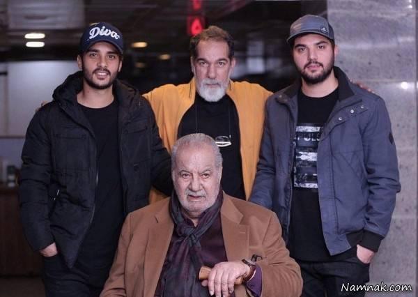 عکس سعید سهیلی با پسرانش ساعد و سینا سهیلی