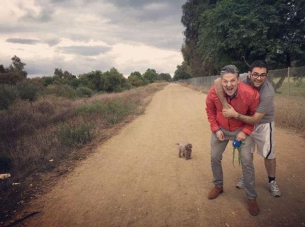 عکس قیصر خواننده و پسرش آرین