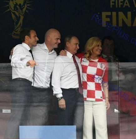 عکس یادگاری رئیس جمهور کرواسی فرانسه و روسیه