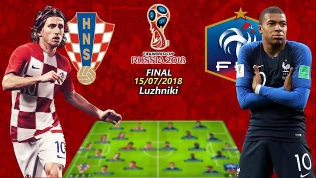 خلاصه بازی فینال جام جهانی ۲۰۱۸ + نتیجه بازی فرانسه کرواسی